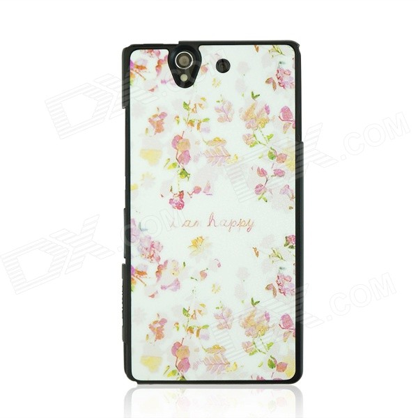 все цены на Flower Pattern Protective PC Back Case Cover for Sony Xperia Z / L36H - White + Red + Multicolor онлайн