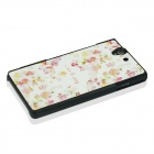 Flower Pattern Protective PC Back Case Cover for Sony Xperia Z / L36H - White + Red + Multicolor