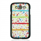 Little Flower Pattern Plastic Back Case for Samsung Galaxy Grand  i9082 - White + Pink