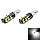 HONSCO E10 2W 100lm 6000K 24-SMD 2835 LED White Light Car Bulbs (Pair / DC 12V)