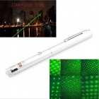 UltraFire 5mw 532nm Dual Spot Modes Green Aluminum Alloy Laser Pointer Pen - Silver (2 x AAA)