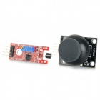 5-Pin PS2 Joystick Game Controller Module + 4-Pin Touch Sensor Module for Arduino - Black + Red