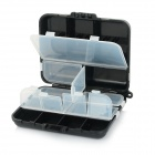Portable Fishing Gear Lure Storage Case Box - Black + White