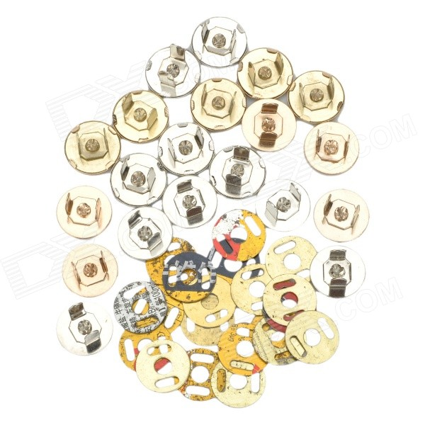 Pussin vaihto Magnetic Snap Fasteners Set - Gold + hopea (10 kpl)