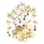 Bag's Replacement Magnetic Snap Fasteners Set - Gold + Silver (10 PCS)