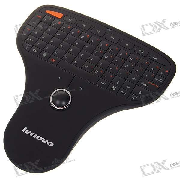 Lenovo N5901 2.4GHz Portable Handheld Wireless Keyboard with Trackball Mouse (2 x AAA)
