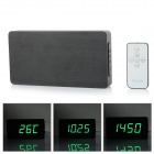 Li&tai SLT-6016 Ultra-thin Wood Style Digital LED Wall / Desktop Clock w/ Remote Control - Black