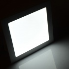 JRLED 18W 1600lm 6500K 90-SMD 2835 LED White Square Panel Light Lamp