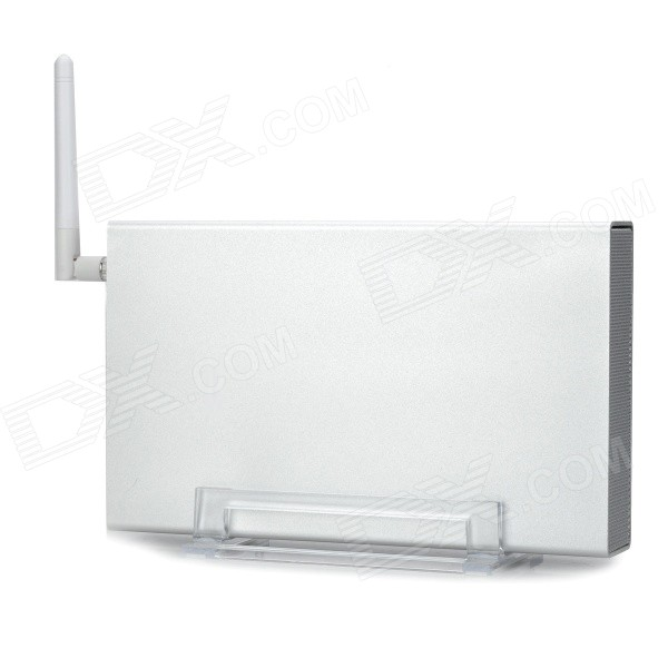 U35WF 3.5 Mobile Wi-Fi Wireless HDD Enclosure w/ Antenna - Silver lot of 10pcs unlocked aircard ac790s 4g mobile hotspot sierra wireless lte cat6 300m portable wifi router plus 49dbi 4g antenna