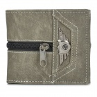 WB-2097 Stylish Men's Punk Folding Wallet - Grey