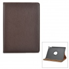 Protective PU Leather Case w/ 360 Degree Rotational Stand for IPAD AIR 2 - Brown
