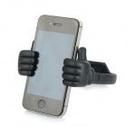 Universal Thumbs Up Style Desktop TPU Stand Mount Holder for Smart Phone / Tablet PC - Black