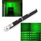 UltraFire 5mw 532nm Dual Spot Modes Green Light Laser Pointer Pen - Black + Silver (2 x AAA)