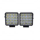 "KAWELL 48W 30 Degree LED Spot Lights 4.3"" Square Tractor Marine Off-road Lighting RV ATV"