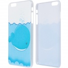 "Cute Whale Pattern Protective PC Back Case for IPHONE 6 PLUS 5.5"" - White + Blue"