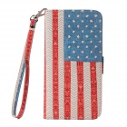 American Flag Cloth Grain Flip PU Leather Wallet Case w/ Stand, Photo Frame for IPHONE 6 PLUS 5.5''