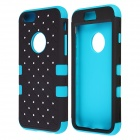 "Hybrid 3-in-1 Diamond Rhinestone Protective PC + Silicone Case for IPHONE 6 4.7"" - Blue + Black"