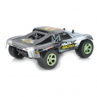 Nansheng 8807G 01:12 Scale 3-CH 2,4 High Speed ​​R / C Cross-land Car-Silver + Svart