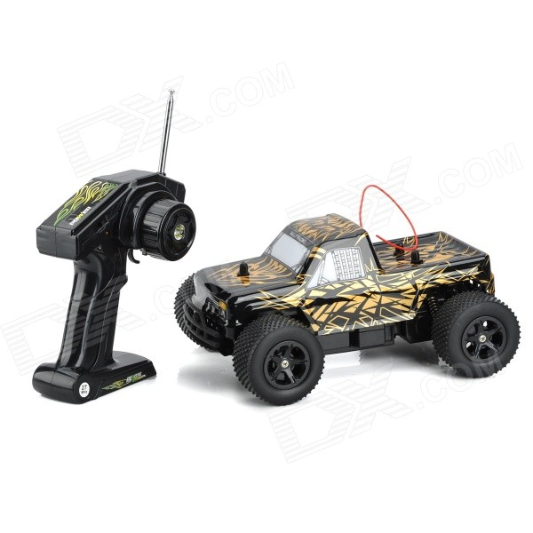 NanSheng 8803A 1:16 Scale 3-CH 27MHz High Speed R/C Cross-Country Car - Golden + Black nansheng 8807g 1 12 scale 3 ch 2 4ghz high speed r c cross country car silver black