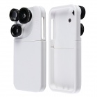 4-in-1 Rotary Dial Wide Angle Macro Fisheye Telephoto Camera Lens w/ Detachable Case for IPHONE 5/5S