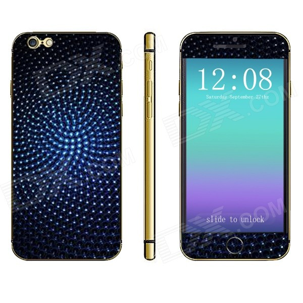 Stylish Front + Back Decorative Sticker Set for IPHONE 6 PLUS 5.5 -  Lyons Blue