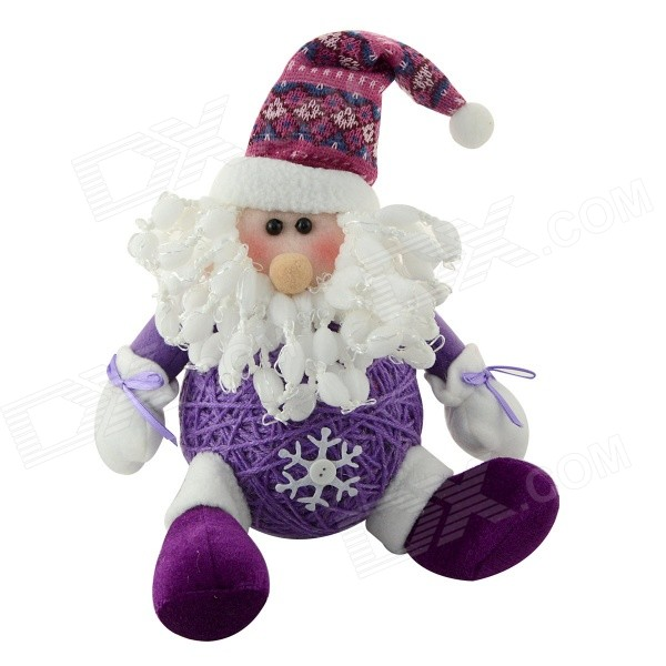 940A Cute Santa Claus Style Christmas Gift Doll - Purple super cute plush toy dog doll as a christmas gift for children s home decoration 20