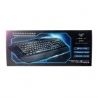 AULA Dragon Deep 3-kleuren backlit USB-bekabelde 104-key gaming toetsenbord - zwart