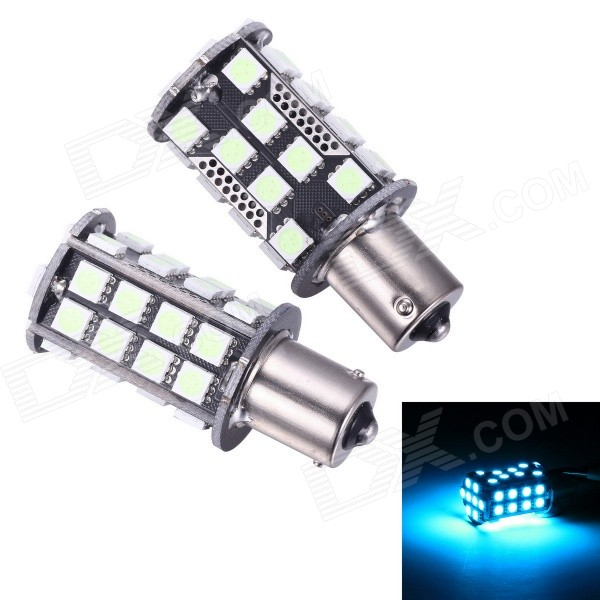Merdia 1156 8W 200lm 10000K 40 x SMD 5050 LED Ice Blue Light Car Steering Light (2 PCS)