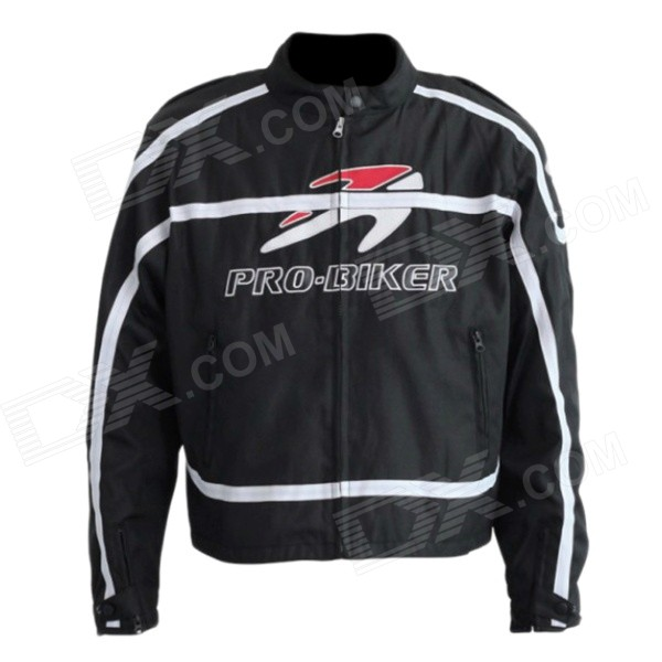 PRO-BIKER JK-09 Professional Fall Protection Motorcycle Riding Racing Wear Jacket - Black (XL)
