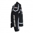 PRO-BIKER JK-09 Professional Fall Protection Motorcycle Riding Racing Wear Jacket - Black (L)