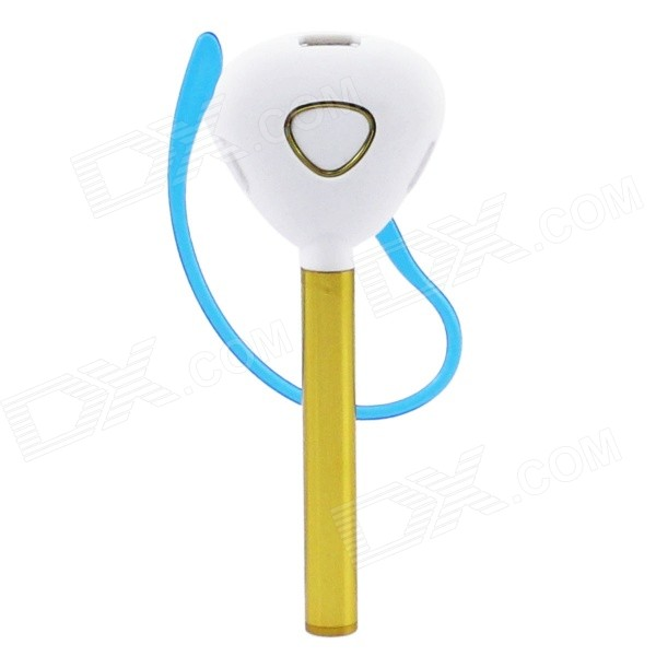 Universal Bluetooth V4.1 In-Ear Style Headphone w/ Voice Dialing  Prompt - White + Golden