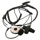 Baiston HW01 Motorcycle Helmet K-connector Headphone w/ Mic. for Walkie Talkie / Intercom - Black