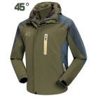 Wind Tour Men's 3-in-1 Outdoor Sport Autumn and Winter Ski-wear Jacket - Army Green (L)