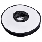 Universal Ring Shaped Speedlite Flash Softbox Diffuser Reflector for Macro Shooting - White + Black