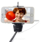 Z07-5S Handheld Selfie Monopod w/ 3.5mm Audio Cable for Cell Phone - Black