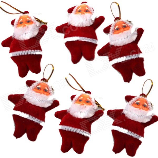 santa-claus-shaped-christmas-tree-hanging-decoration-red-6-pcs