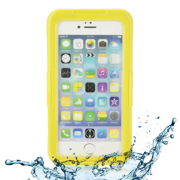 EPGATE 6 Meters Underwater Protective Waterproof Case for IPHONE 6 Plus 5.5  - Yellow + Transparent ip68 underwater waterproof case for iphone 7 6s 6 dirt dust snow proof cover pink