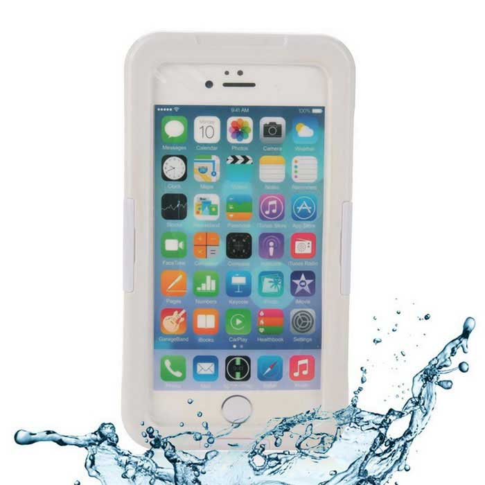 EPGATE 6 Meters Underwater Protective Waterproof Case for IPHONE 6 Plus 5.5  - White + Transparent ip68 underwater waterproof case for iphone 7 6s 6 dirt dust snow proof cover pink