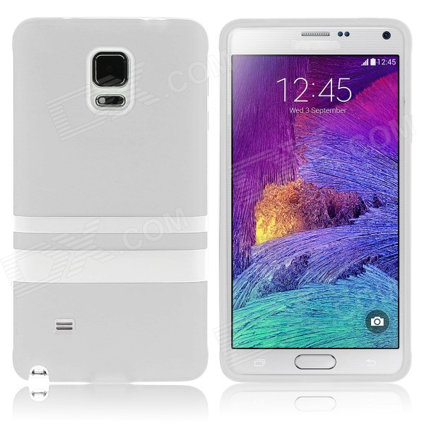 Hat-Prince Protective TPU Soft Case for Samsung Galaxy Note 4 N9100 - White enkay quick sand style protective plastic back case for samsung galaxy note 4 n9100 blown