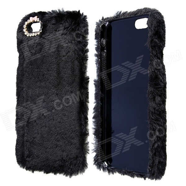 Stylish Plush Fur Style PC Protective Case for IPHONE 6 4.7 - Black - DXPlastic Cases<br>Color Black Brand NO Model HW01 Quantity 1 Piece Material PC+Plush Compatible Models IPHONE 6 Design Solid Color Style Back Cases Packing List 1 x Case<br>