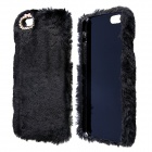 "Stylish Plush Fur Style PC Protective Case for IPHONE 6 4.7"" - Black"