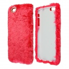 "Stylish Plush Fur Style PC Protective Case for IPHONE 6 PLUS 5.5"" - Red"