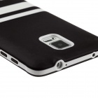 Hat-Prince Protective TPU Soft Case for Samsung Galaxy Note 4 N9100 - Black + White