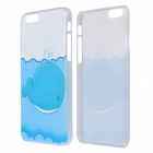 "Whale Pattern Protective PC Back Case for IPHONE 6 4.7"" - White + Blue"