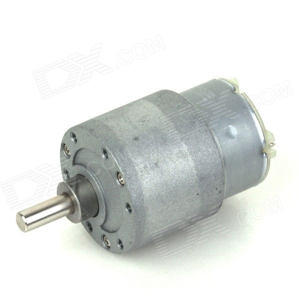 ZnDiy-BRY 37mm 12V DC 60RPM High Torque Gear Box Electric Motor - Silver zndiy bry dc 12v 600rpm dc 6v 300rpm high torque gear motor silver