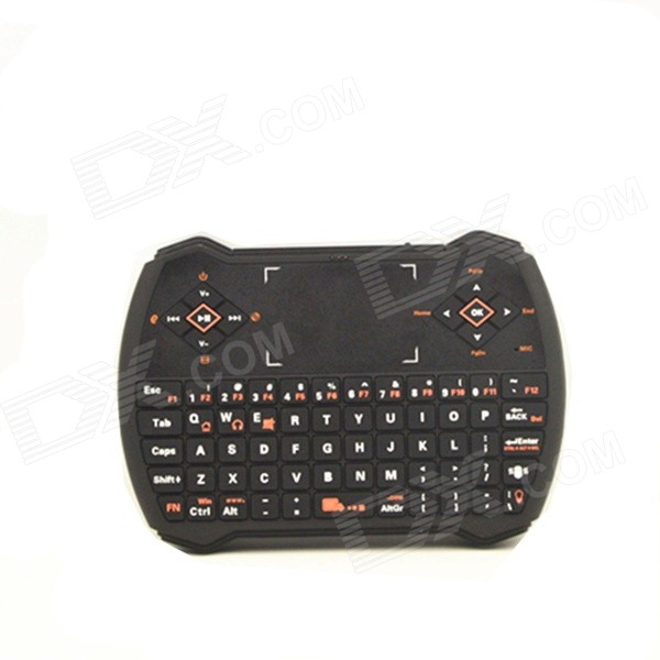 M-10221 2.4GHz Wireless Keyboard w/ Touchpad Mini Player Remote Control Keyboard for PC, PS3 - Black торшер mantra natalia 5655