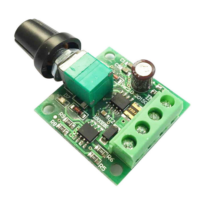 MaiTech 03100658 PWM DC 1.8V / 3V / 5V / 6V / 12V / 2A Motor Speed Controller / Switch - Green fast shipping jm15 004 1 5hp dc motor for treadmill