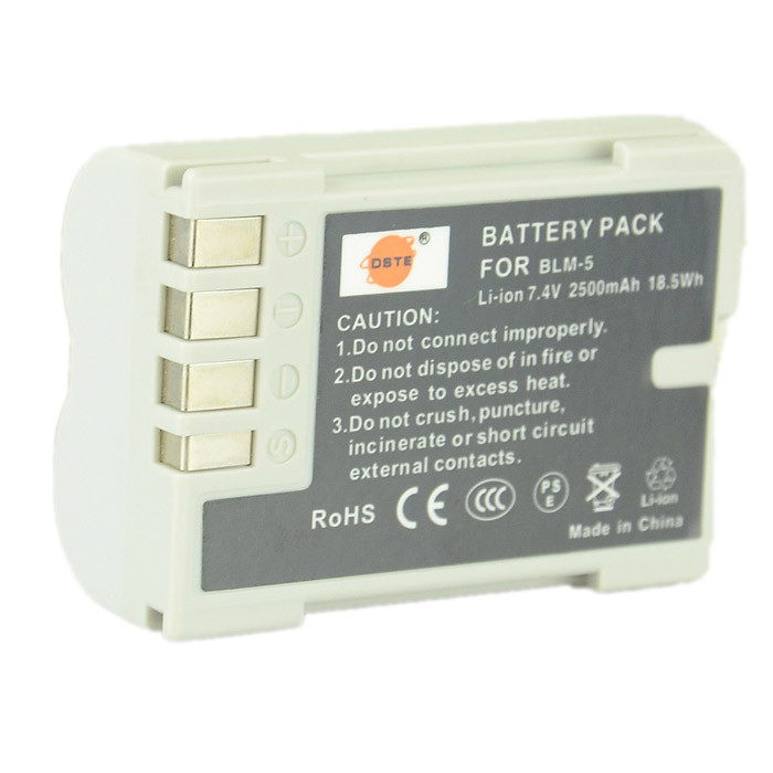 цена на DSTE 7.4V 2500mAh Li-ion Battery for Olympus E3 / E520 / E510 / E330 / C-5060 + More - Greyish White