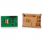 "3.5"" LCD Display + Acrylic Case + Heat Sink Set for Raspberry Pi B / B+ - Green + Multi-Colored"