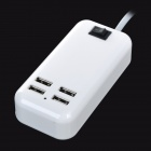 universal 4-Port USB Adapter carregador / fonte w / UK plug-Branco